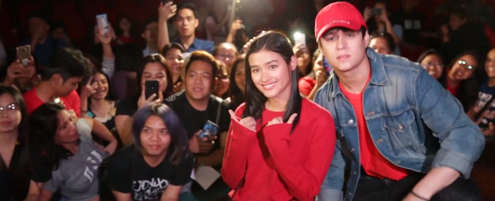 Liza Soberano and Enrique Gil with TFC subscribers and fans