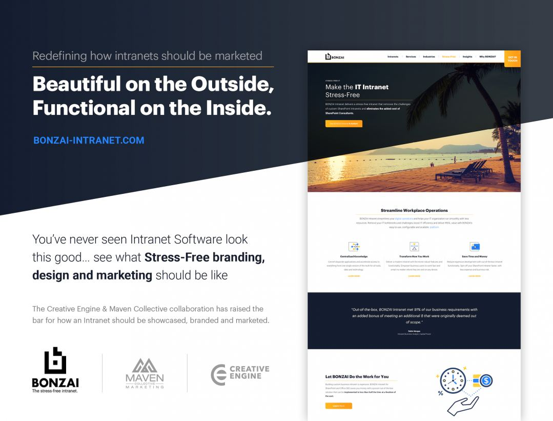 Maven Collective Marketing & Creative Engine raise the bar on intranet marketing