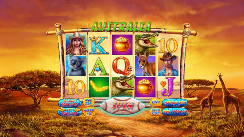 """Game design for casino online slot """"Australia"""""""