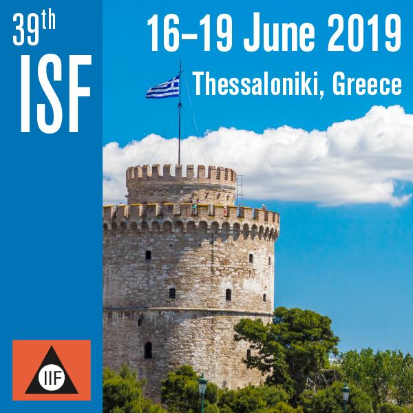 ISF 2019, Thessaloniki | 16-19 June