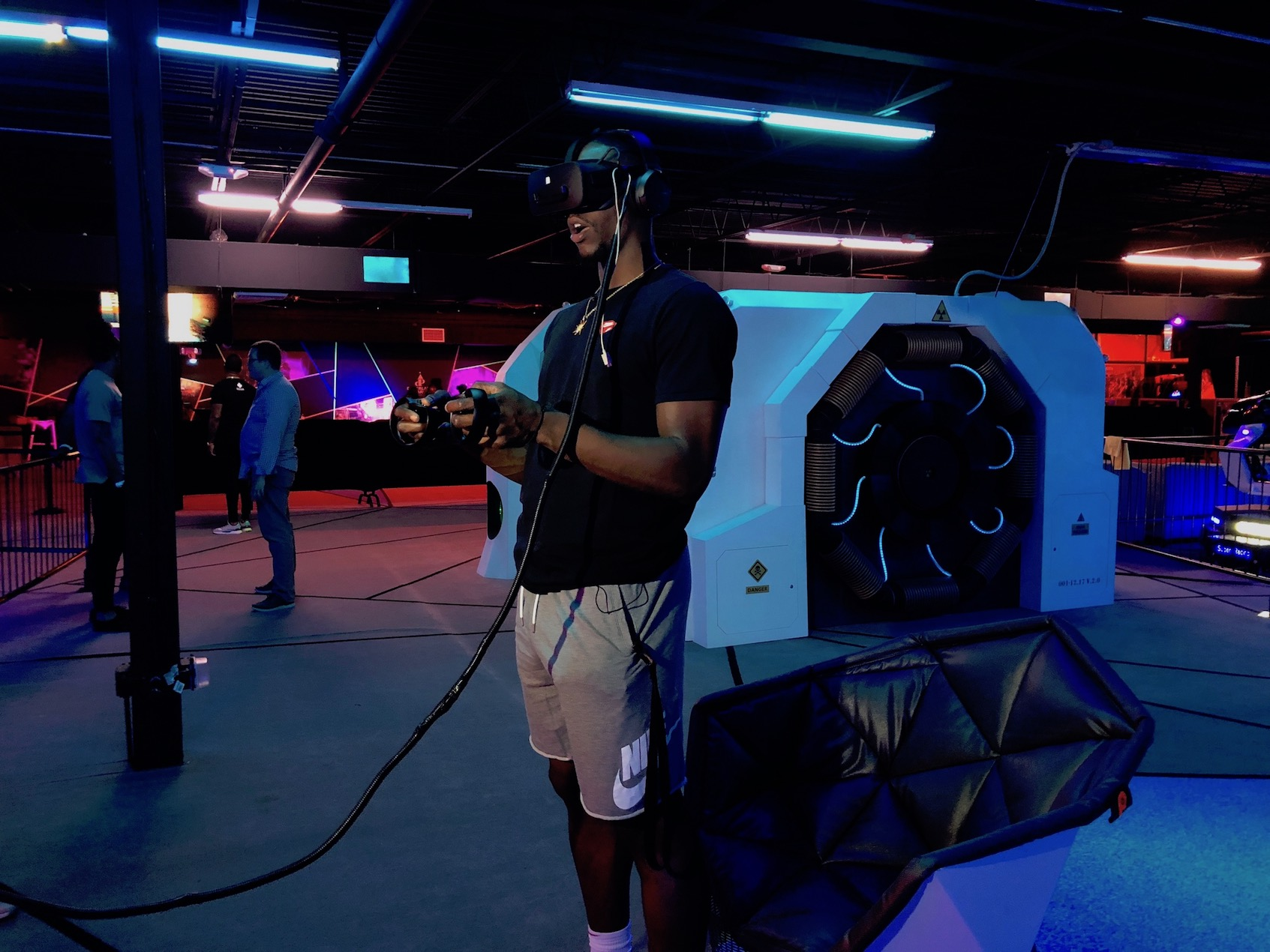Miami Heat's Bam Adebayo Plays in Dezerland Park's Virtual Reality Park