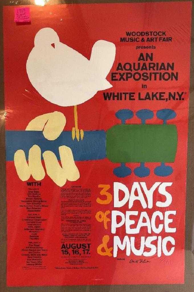 Original 1969 Woodstock Poster