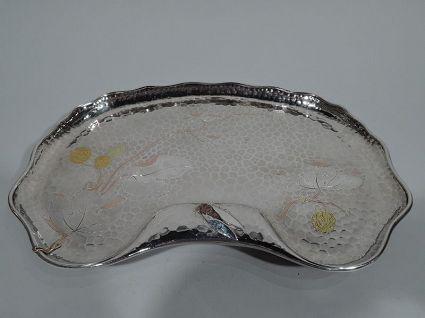 tiffany mixed metal antique silver tray rare silve
