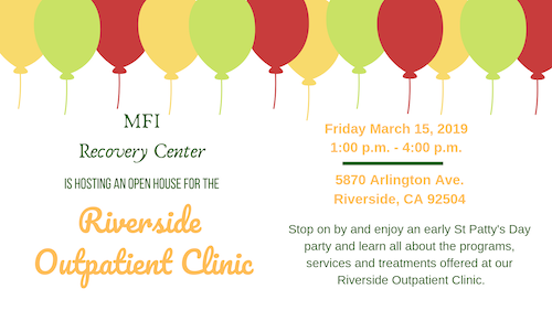Open House MFI Recovery Center in Riverside