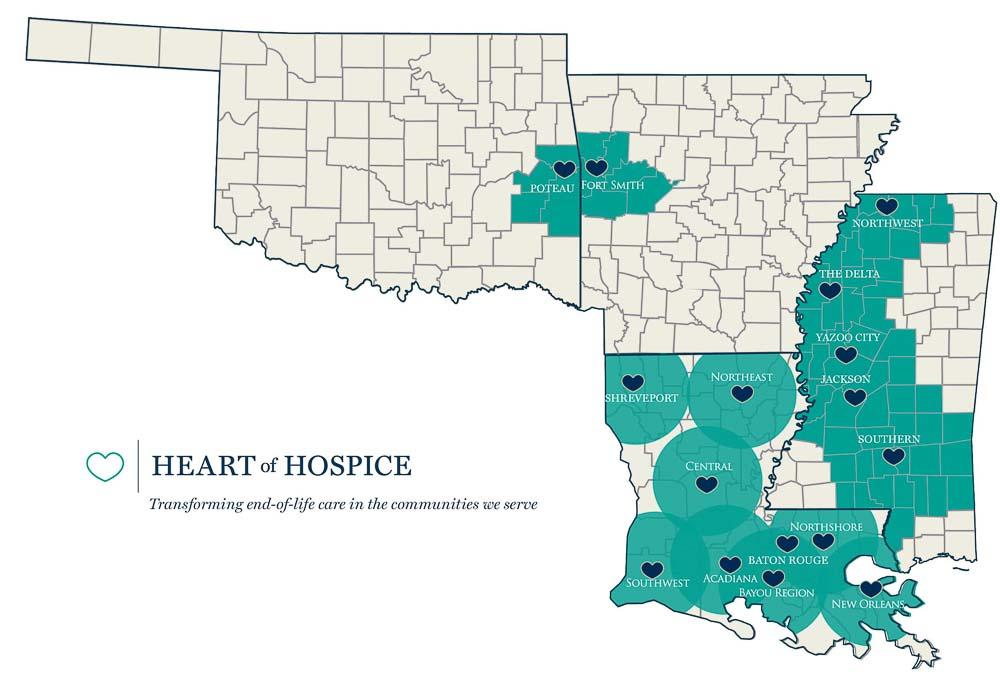 Heart of Hospice Service Area