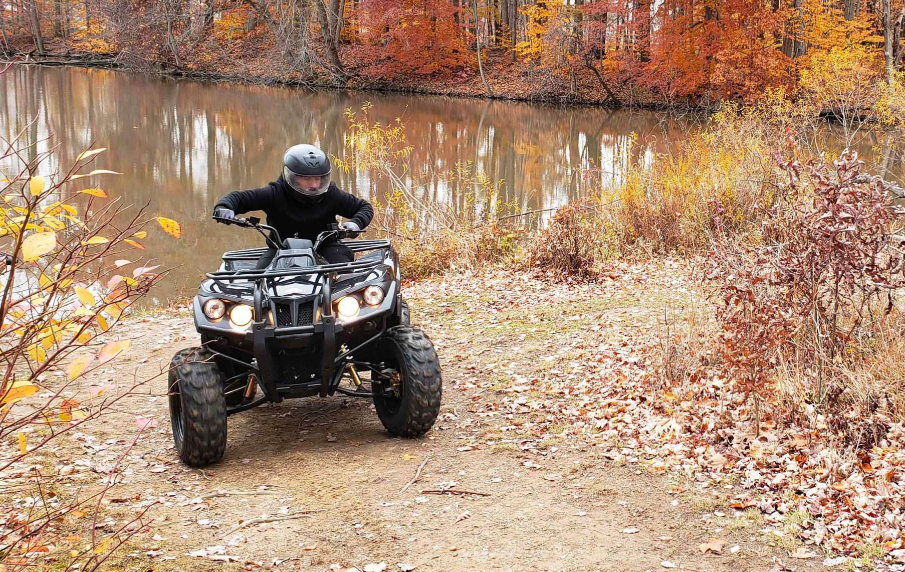 The DRR Stealth Electric ATV in action.