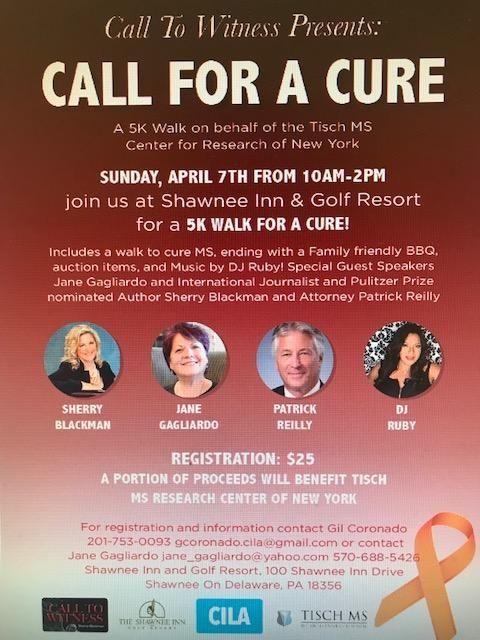 Call To Witness's Call For A Cure 5K MS Walk Event