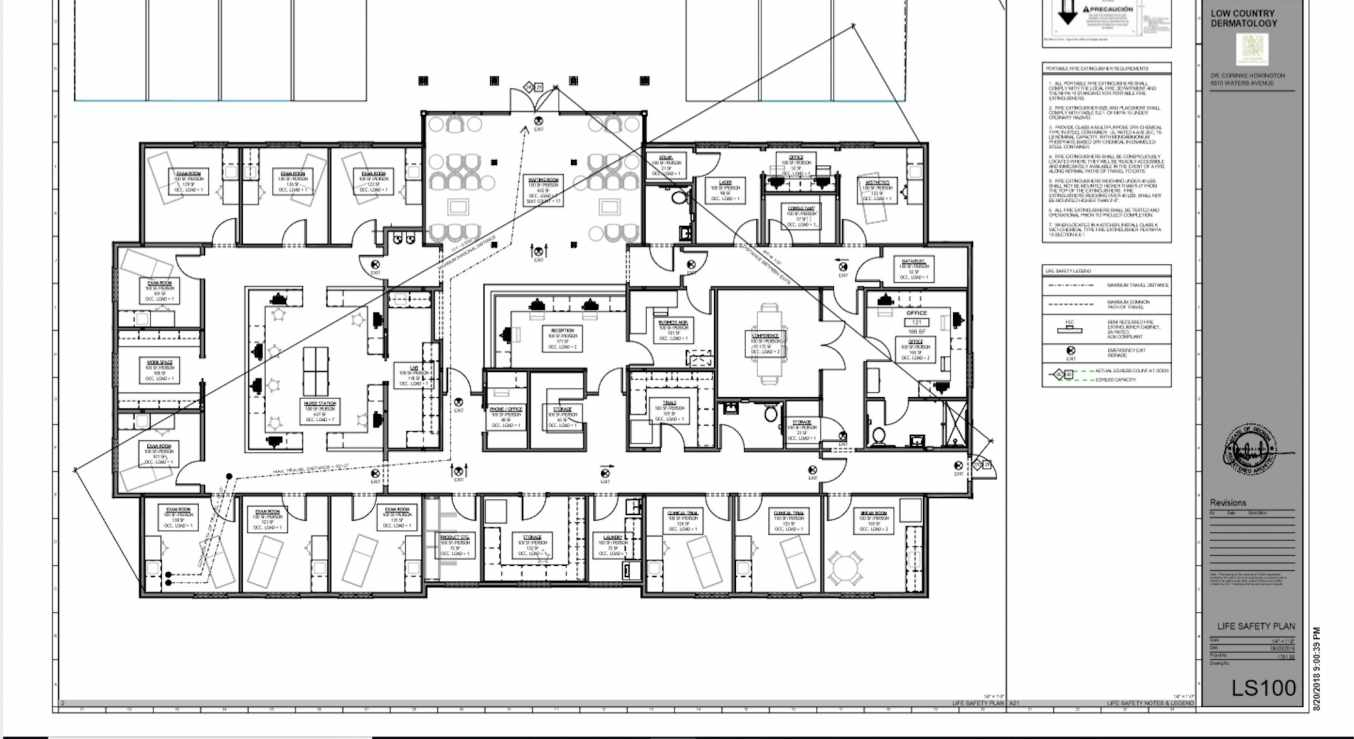 Low Country Dermatology Architect Plans