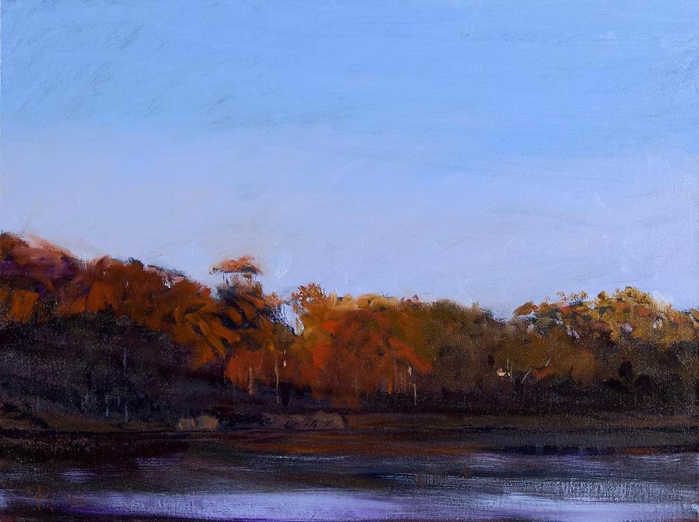 "Roy Perkinson ~ 'November on the Pond' ~  Oil on Canvas 18"" x 24"""