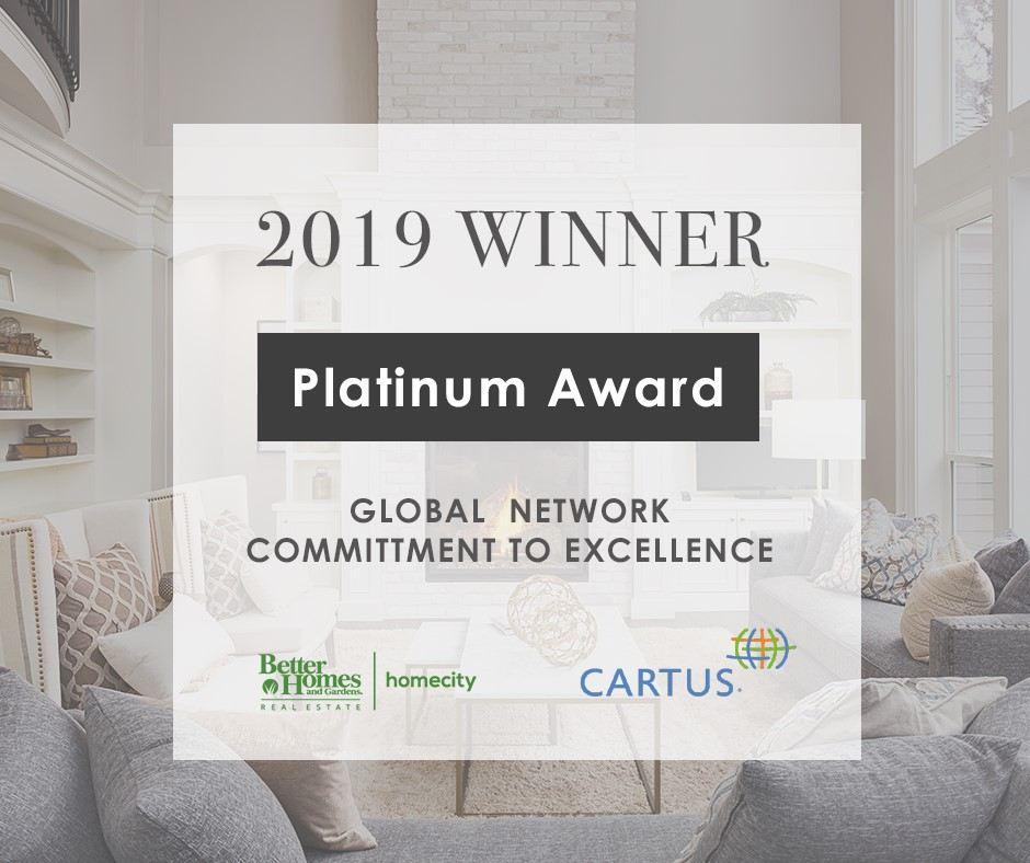 Cartus Platinum Award 2019