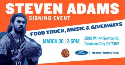 Steven Adams Event Announcement