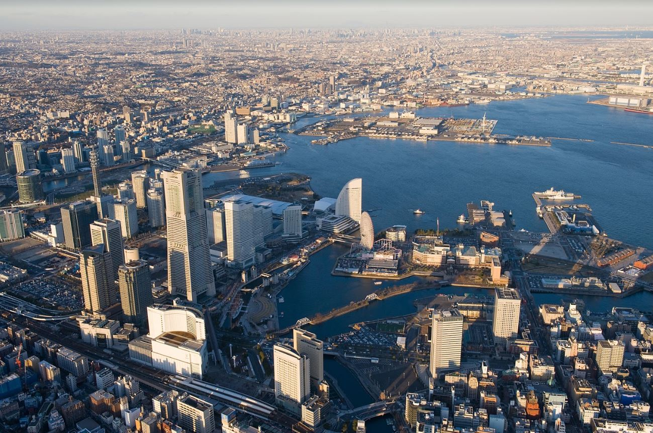 Port of Yokohama Aerial View