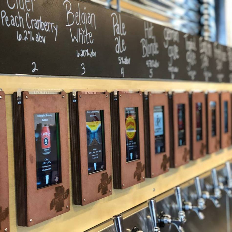 Centerville's Rapid Fired Pizza now features a 24-tap beer wall.