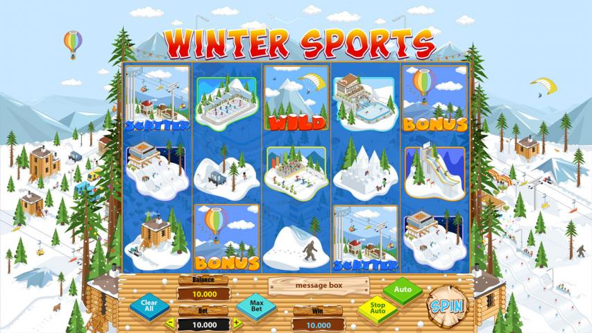 "Online slot machine for SALE – ""Winter Sports"""
