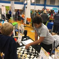 kids having fun with chess