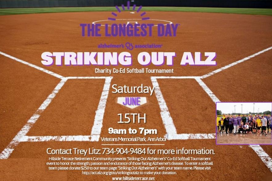 Striking Out Alzheimer's Hillside Softball Tournament