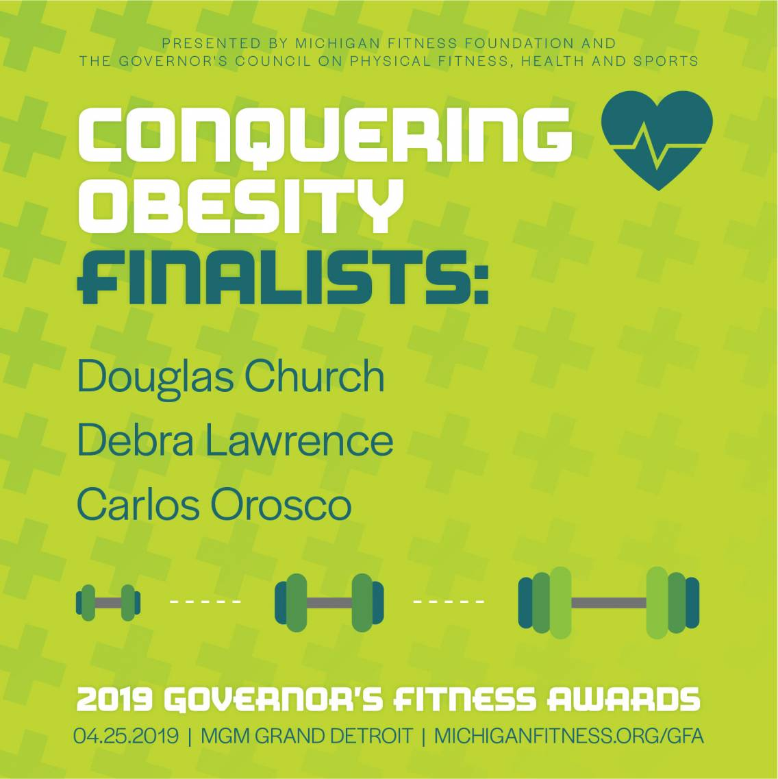 Governor's Fitness Awards - Conquering Obesity Finalists