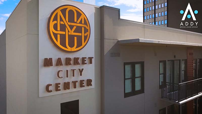 "BIG Studios' ""Market City Center: City Living"" earned 2 ADDY Awards on Thursday."