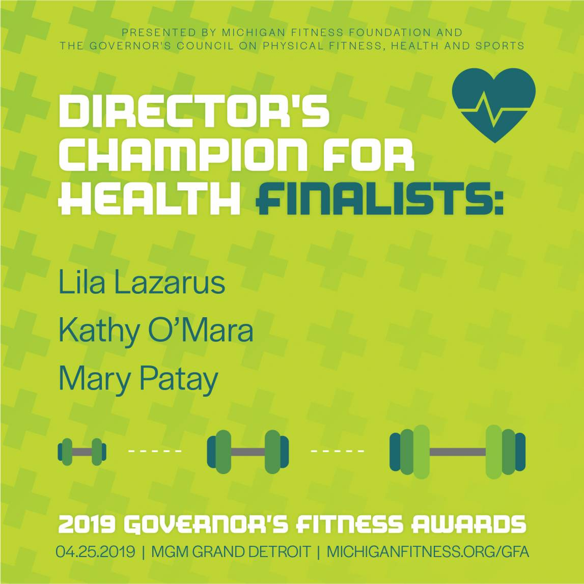 Governor's Fitness Awards - Director's Champion of Health