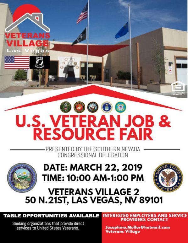 Veterans Job and Resource Fair at Veterans Village
