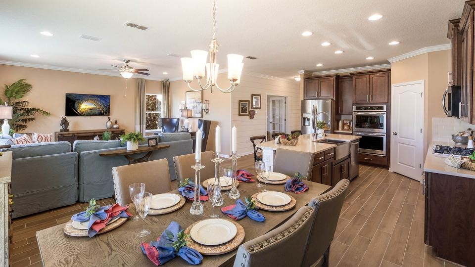 Five designer decorated model homes are now open at GreyHawk