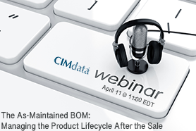 CIMdata webinar for April: Product Lifecycle Management for After-Sales