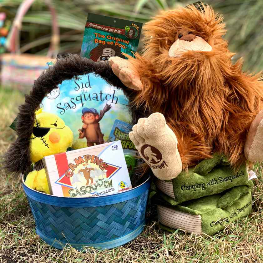 Win this Sasquatch-themed Easter Basket at LethalChickenGames.com