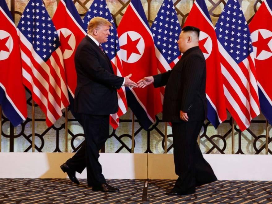 US President Donald Trump & North Korea's Kim Jong Un