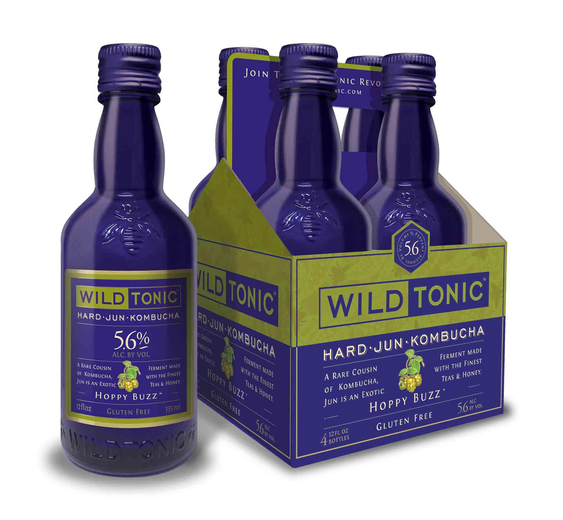 Wild Tonic Hoppy Buzz 5.6% ABV Hard Jun- 4 Pack