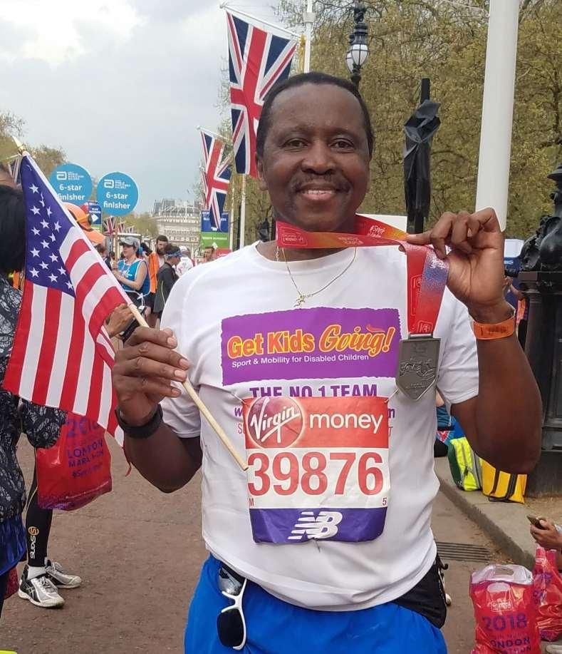 Gregory's finish at London Marathon 2