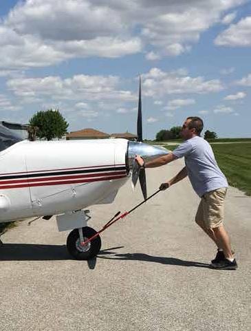 Doctor Matthew Bogard MD, Nebraska, with Comanche aircraft