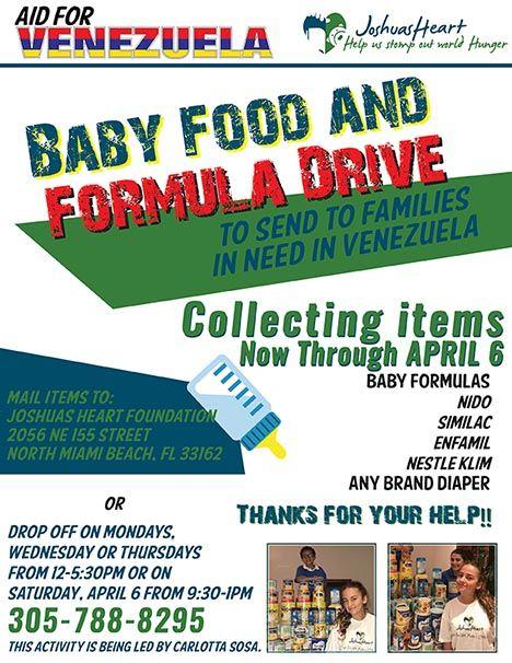 Aid for Venezuela Infant Drive