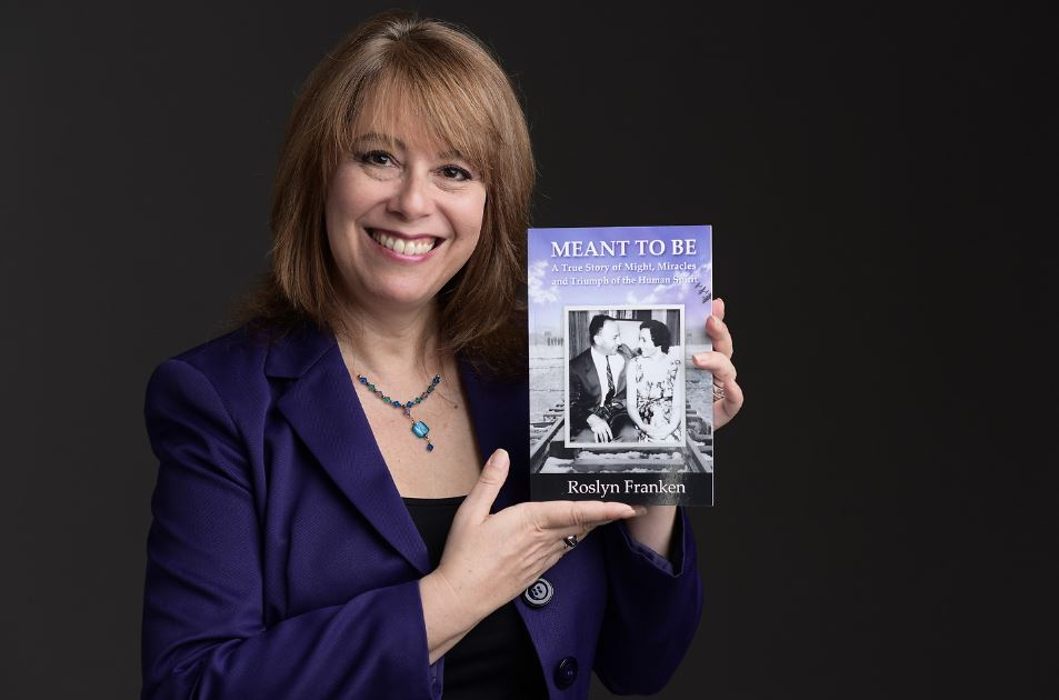 Roslyn Franken with Meant to Be Book