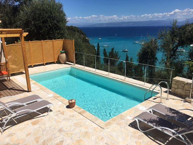 The pool at Villa Avra