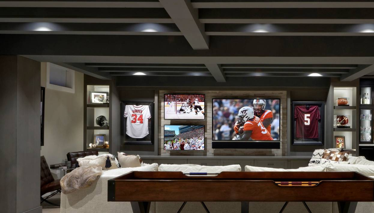 Finished basement remodel featured in Remodeling Magazine Project Gallery