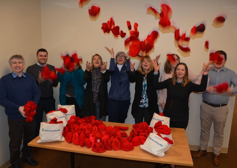 Benchmark Communities Knit Over 700 Little Hats for American Heart Association