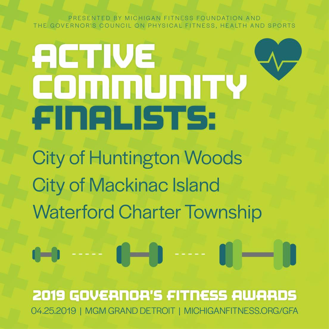 Governor's Fitness Awards - Active Community Award Finalists