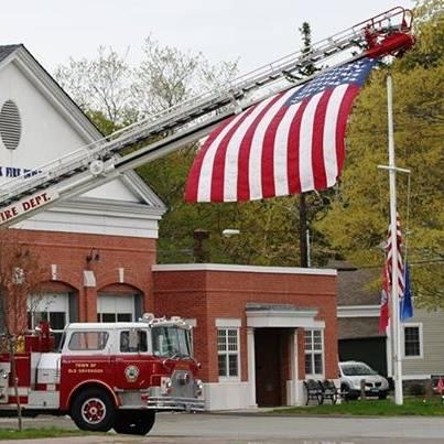 US Flag @OSFD HQ Memorial Day