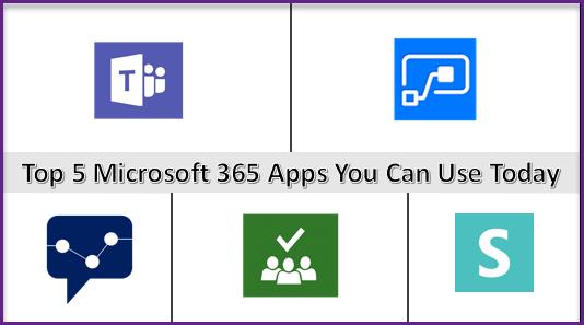 Top 5 Microsoft Apps