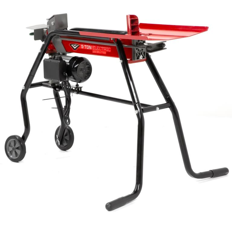 New Earthquake 5-Ton Electric Log Splitter: Power, Portability and Convenience