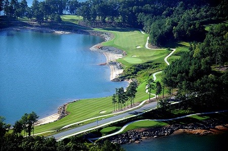 Aerial View of Legacy Golf Course at Georgia's Lanier Islands