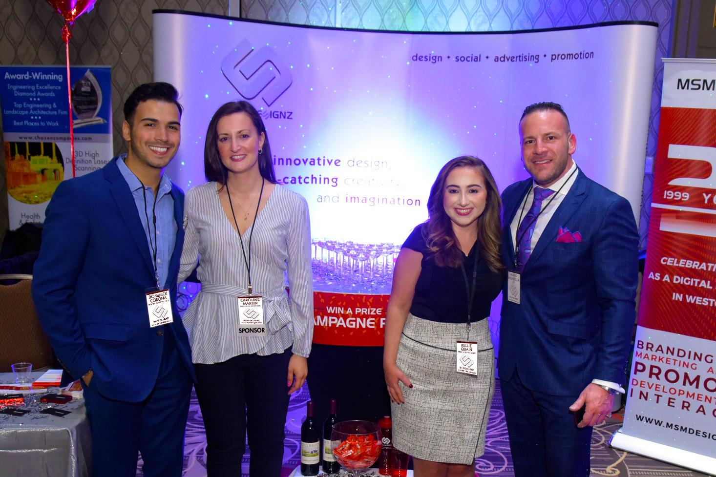 MSM Team: Dominick Corona, Caroline Martin, Kellie Quain and CEO Mario Mirabella