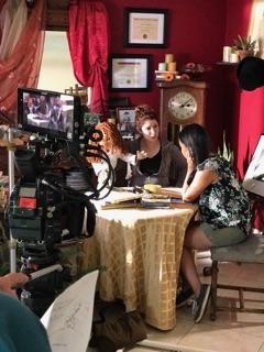 Julia (Katie Koster) and waitress ( Jacqui Lynn Phung)