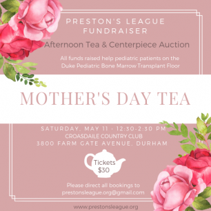 Preston's League Mother's Day Tea