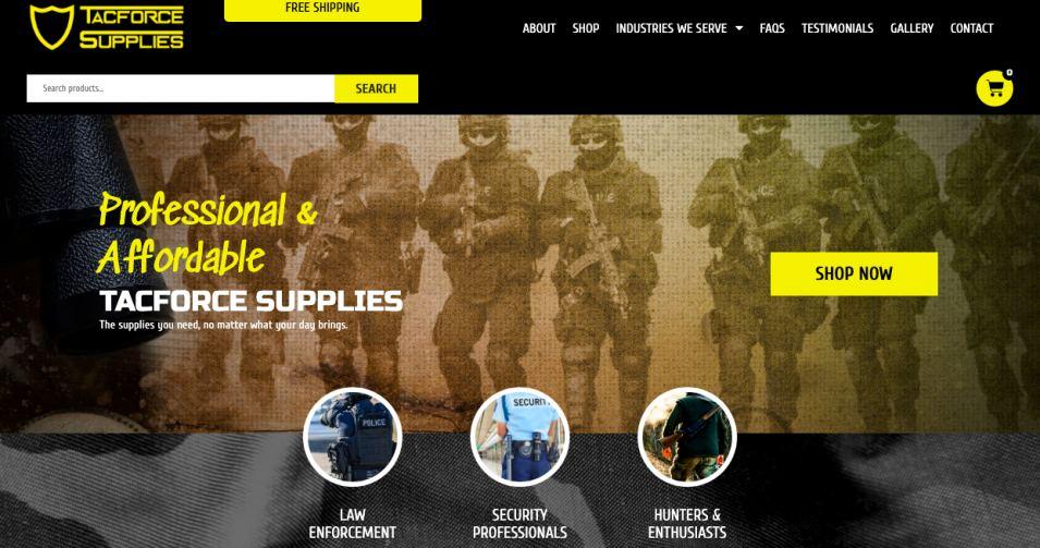 Tacforce Supplies New Website