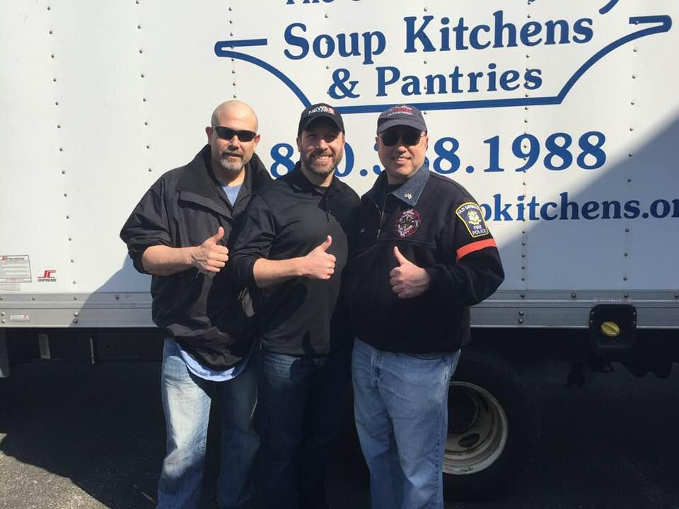Lee Elci Gil Simmons Max Sabrin OSFD Food Drive
