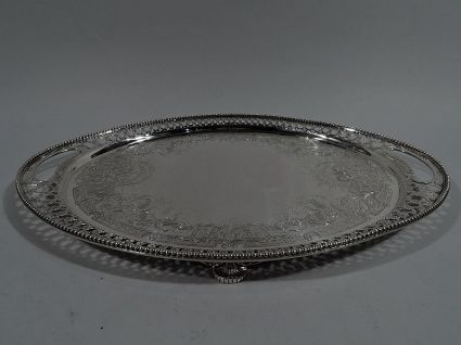 antique sterling silver tiffany salver tray
