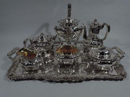 gorham tiffany antique sterling silver coffee tea