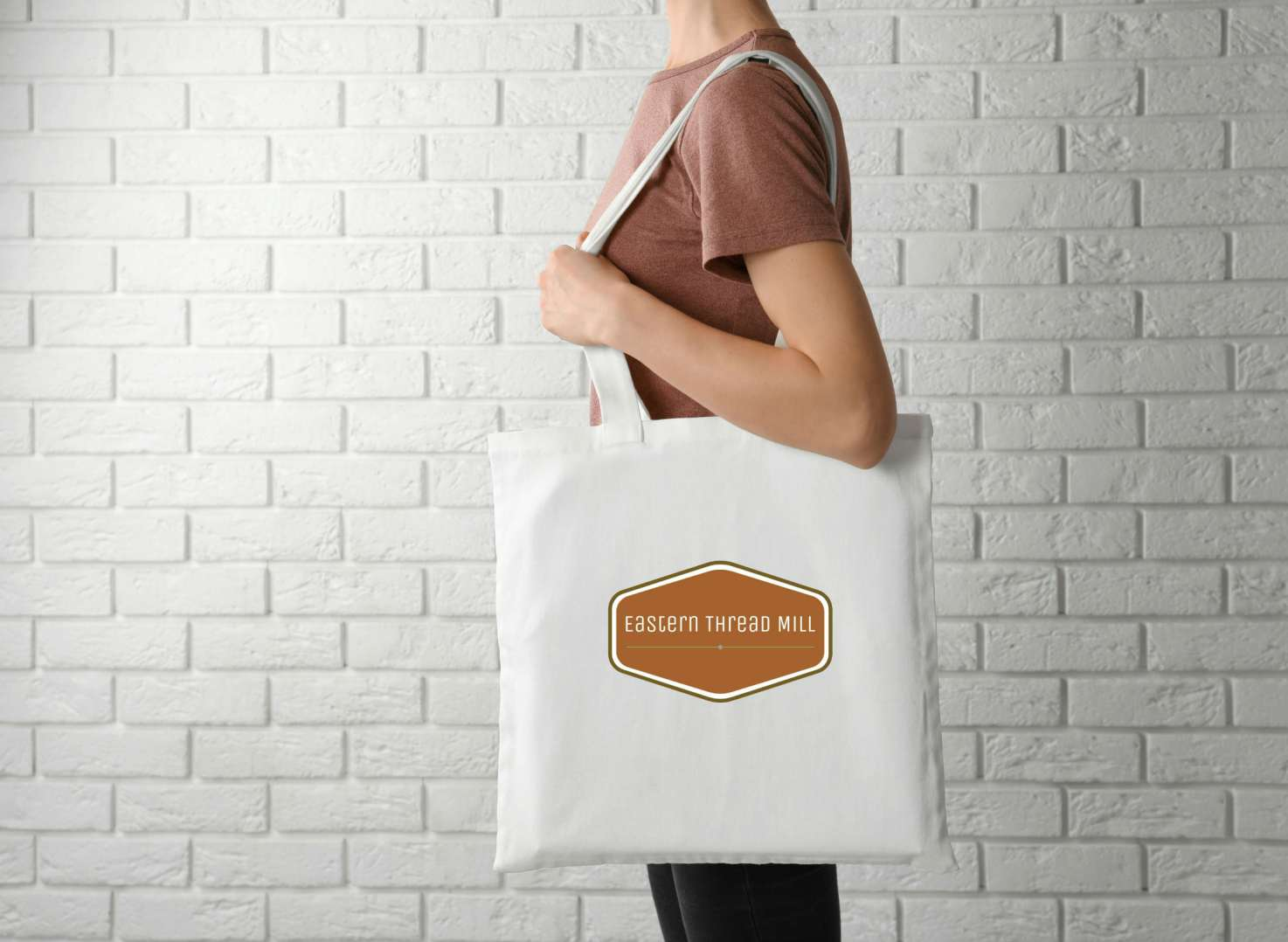 Branded cotton tote bag