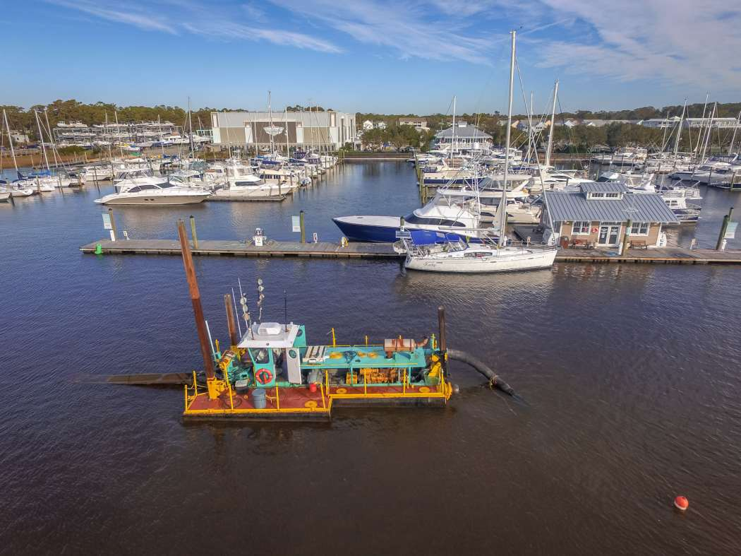 Southport Marina completed a dredging project in March 2019.